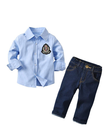 Little Boys Shirt & Jeans Set