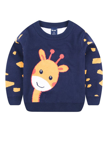 Toddler Big Boys Giraffe Sweater
