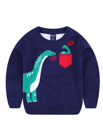 Toddler Boys Dinosaur Printed Sweatshirt