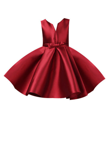 Big Girl Sleeveless Red Gown