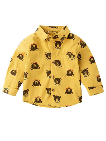 Boys Button-up Shirt Long-sleeved