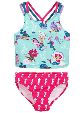 Toddler Big Girl Mermaid Swimwear Set