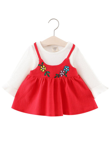 Baby Girl Princess Flower Flare Sleeve Dress