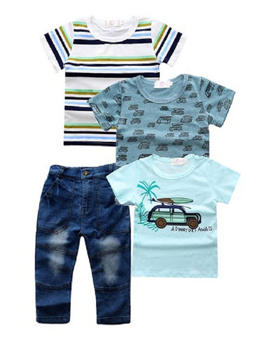 Baby Toddler Boys 3PCS T-shirts With Jeans