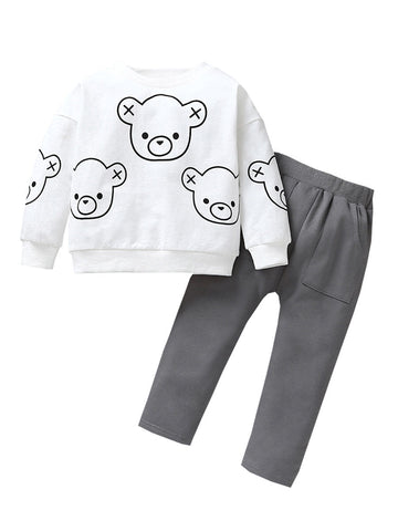 Kids Set Bear Jumper With Pants