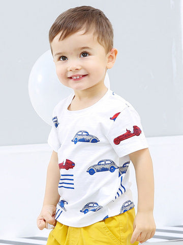 Infant Toddler Boy Car Print T-shirt