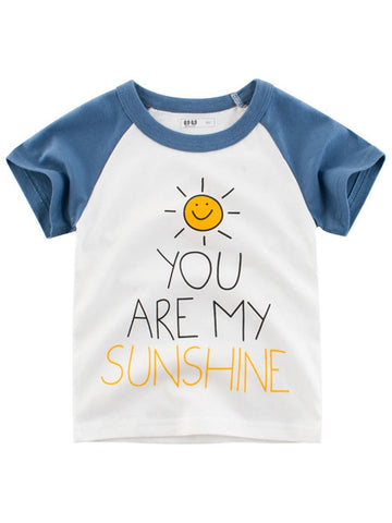 Toddler Big Boy SUNSHINE Print  T-shirt