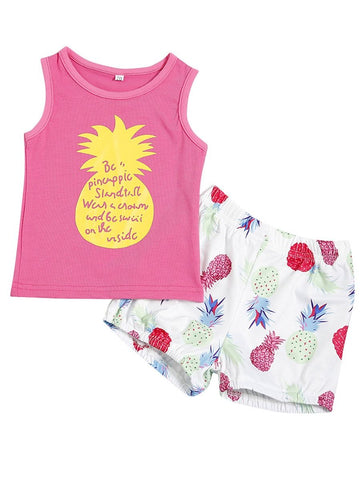 Baby Girl Pineapple Pattern