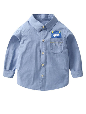 Toddler Big Boys Long-sleeved Shirt