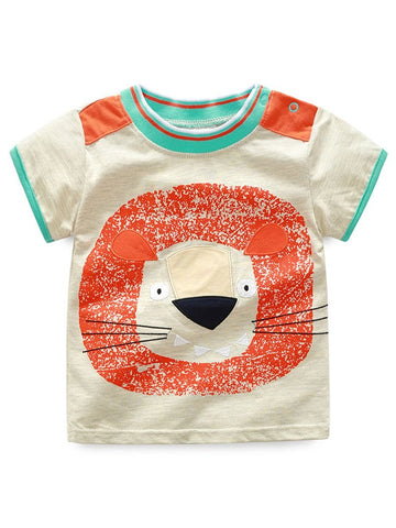 Little Boys Animal Print T-shirt