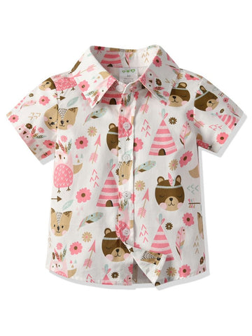 Boys Animal Print Shirt