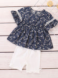 Little Baby Girl Tunic with White Shorts