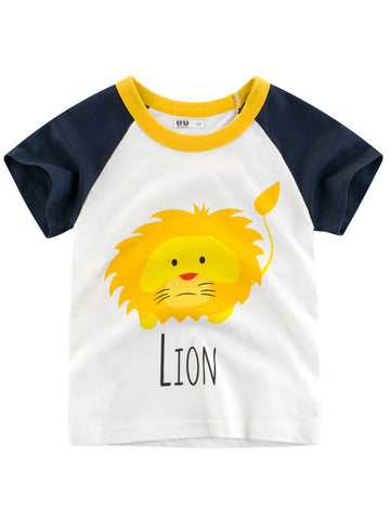 Toddler Boys Lion Print T-shirt
