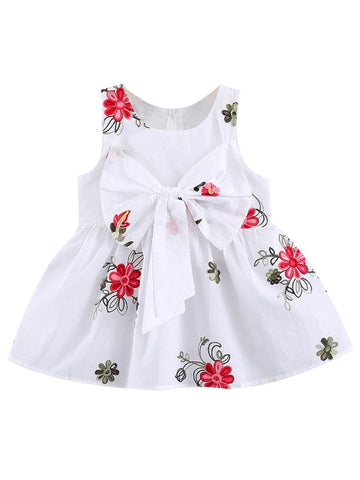 Baby Girl Flower Sleeveless Dress