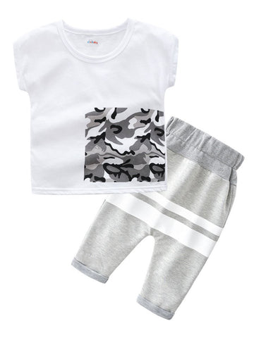 Baby Toddler Boy Causal T-shirt With Pants