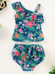 Baby Little Girl Floral Swimsuit-Wholesale