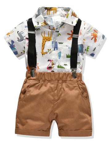 Baby Boys Animal Print Set