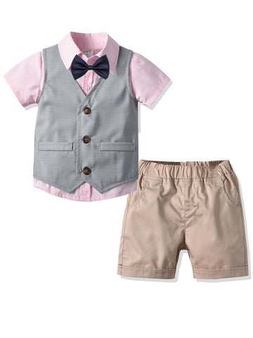 Baby Little Boys Pink Suit