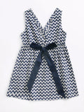 Baby Toddler Girl V Collar Bow Backless Dress