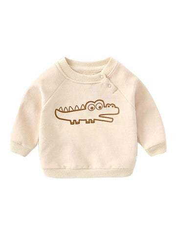 Baby Little Boy Dinosaur Pullover