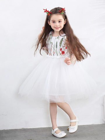 Toddler Girl Flower Print Party Dress