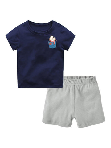 Baby Toddler Kids Cartoon Animal T-shirt Matching Shorts