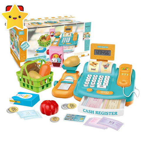 Pretend Supermarket Cash Register Play Set