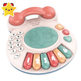 2-In-1 Musical Piano Telephone DRUM Set Toy for 6m+