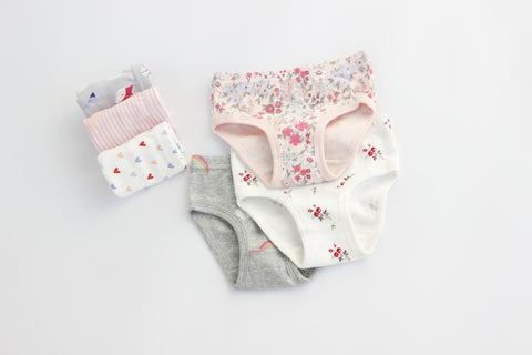 Little Girls Soft Cotton 3- Pack Underwear