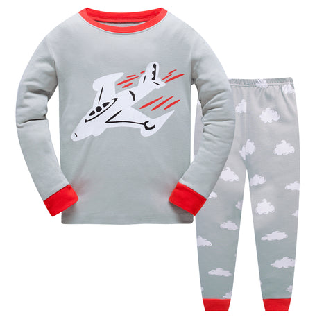100% Cotton Kids AirPlane Pajama Set