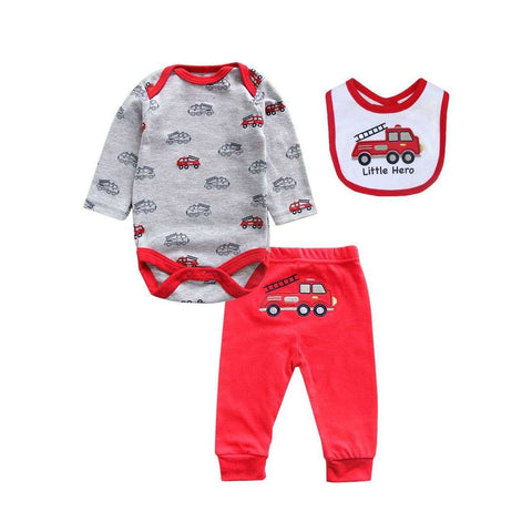 3- piece Newborn Baby Boys Bodysuit Set