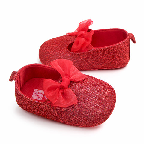 Baby Girl Cotton Fabric PreWalker PartyWear Shoes