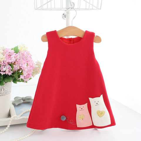 Infant & Toddler Girl Limited Edition Spring Autumn A-Line Elegant Boutique Dress