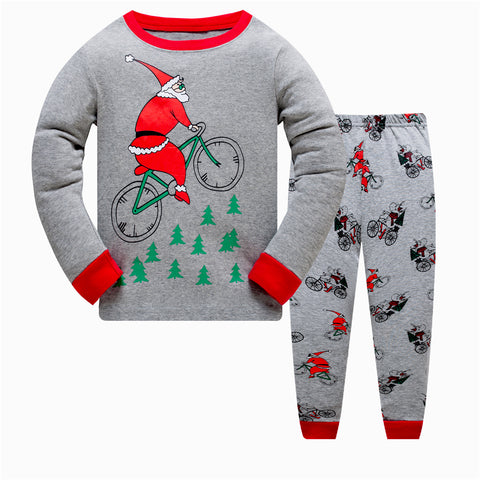 100% Cotton Kids Pajama Christmas Set