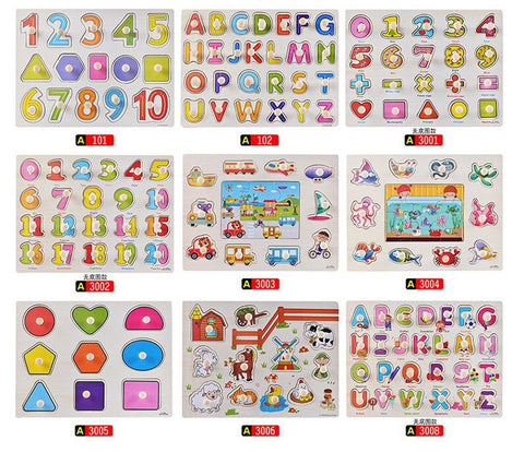 CHOOSE 4 Wooden Educational Puzzle Toy for Toddlers