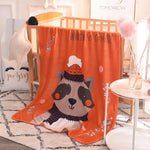 More Warm Soft Touching Solid Coral Fleece Throw/Blanket for Big Kids