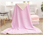 Soft Solid Coral Fleece Throw/Blanket for Toddlers