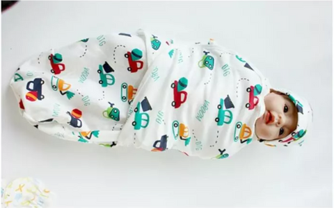 Swaddle Wrap Blanket for Infants with Adjustable Wings- Pack of 3 , Design May Vary