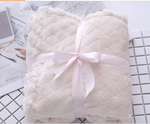 Comfortable Warm Soft Solid Coral Fleece Throw/Blanket for Toddlers
