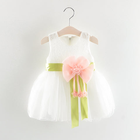 Infant & Toddler Girls White Floral Party Dress