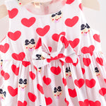 Infant & Toddler Girls Holiday Summer Cute Love Bow Dress