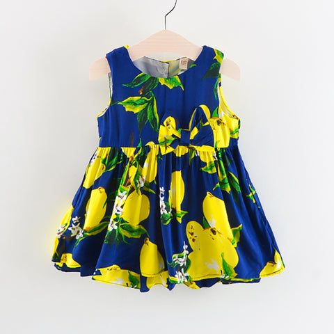 Infant & Toddler Girls Holiday Summer FLoral Lemon Dress