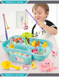Develop Social Skills With Electric Musical Splash Fishing Water Fun Toy for 2+ Years