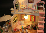 Playful DIY Miniature Dollhouse, Perfect Gift for Birthday Christmas
