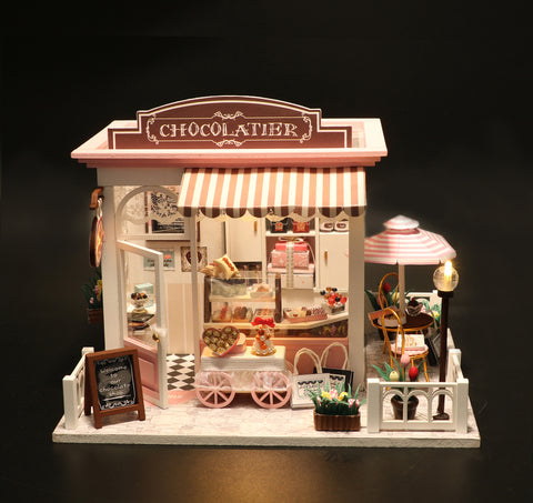 Playful DIY Cake Shop Miniature Dollhouse, Perfect Gift for Birthday Christmas