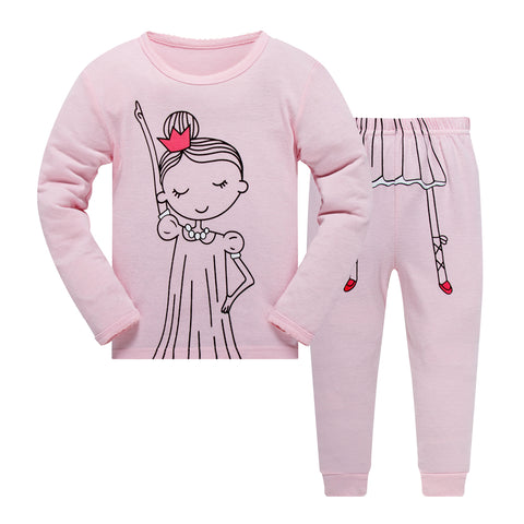 100% Cottons Kids Pink Pajama Set