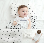 Organic Cotton Pillow and Blanket Set
