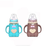 NO TO PLASTIC Baby Feeding Glass Bottle- 2 Pack