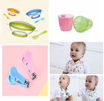 1 Set of baby Necessities 2 Milk Powder Container  and 2 Feeding Bowl With Spoon