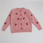 Little Girls Cherry Pattern Cardigan